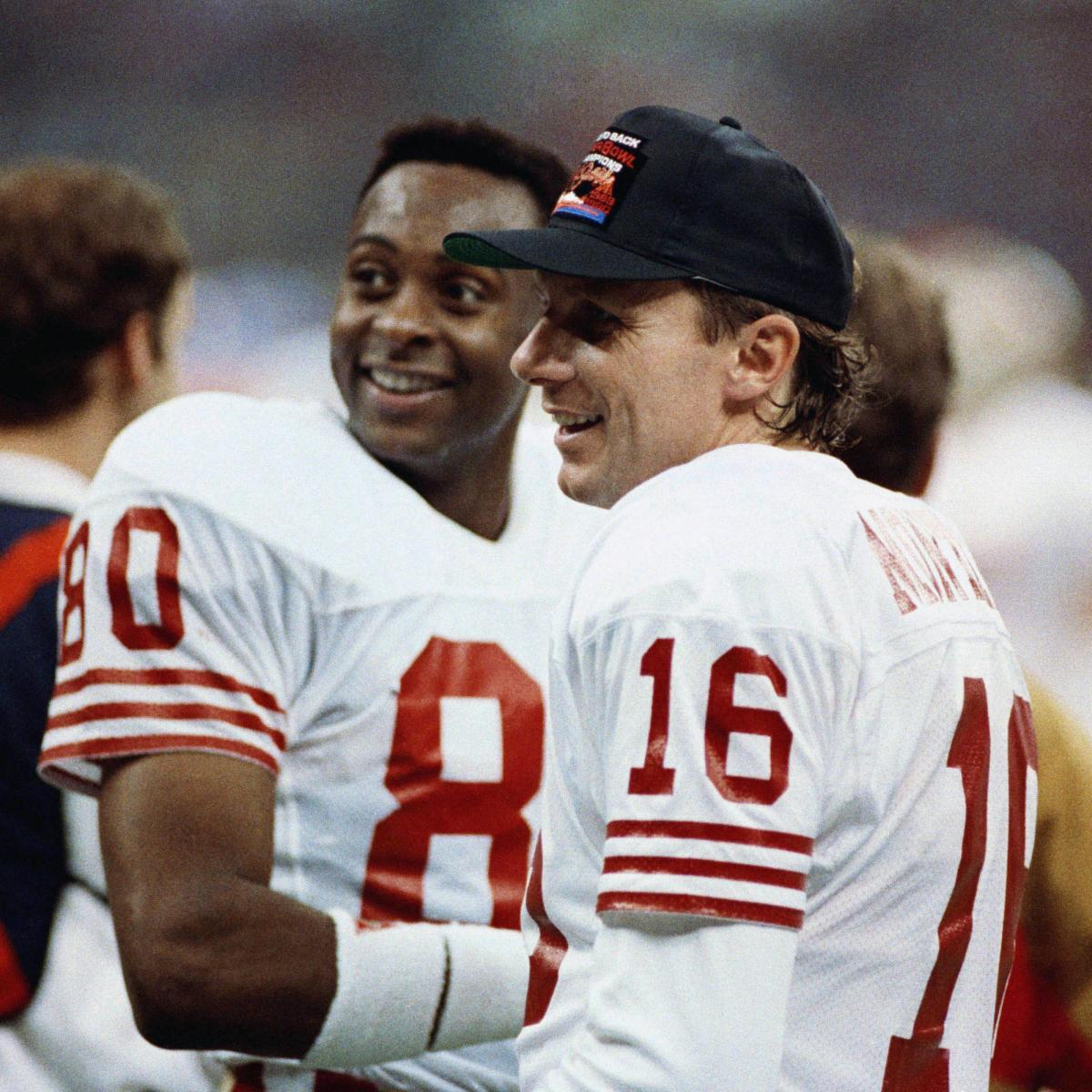<p>Jerry Rice Says He Would Take Joe Montana over Tom Brady from the Clutch'Any Day' thumbnail