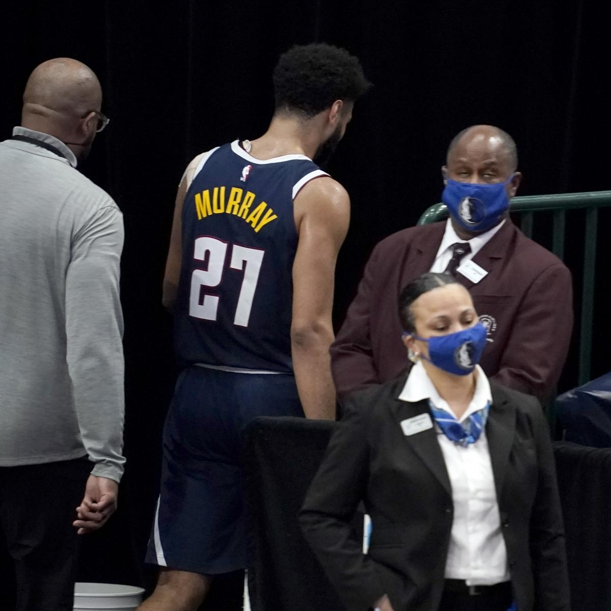 <p>Nuggets' Jamal Murray Ejected After Hitting Mavs' Tim Hardaway Jr. in Groin thumbnail