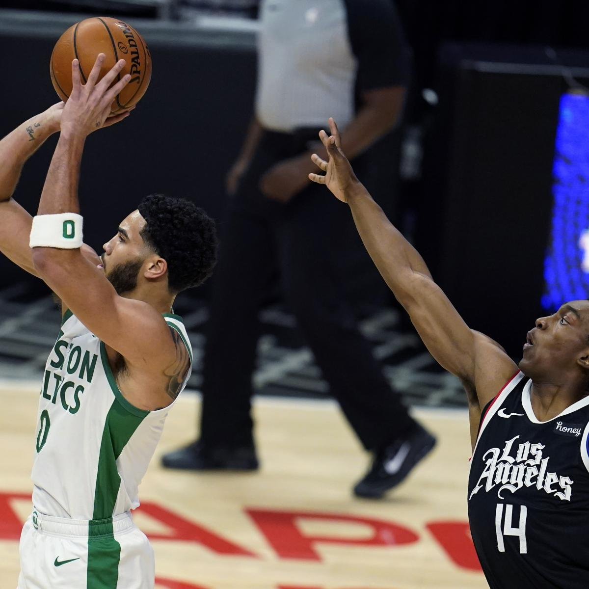 Jayson Tatum Powers Celtics Past Kawhi Leonard, Clippers Without Jaylen Brown