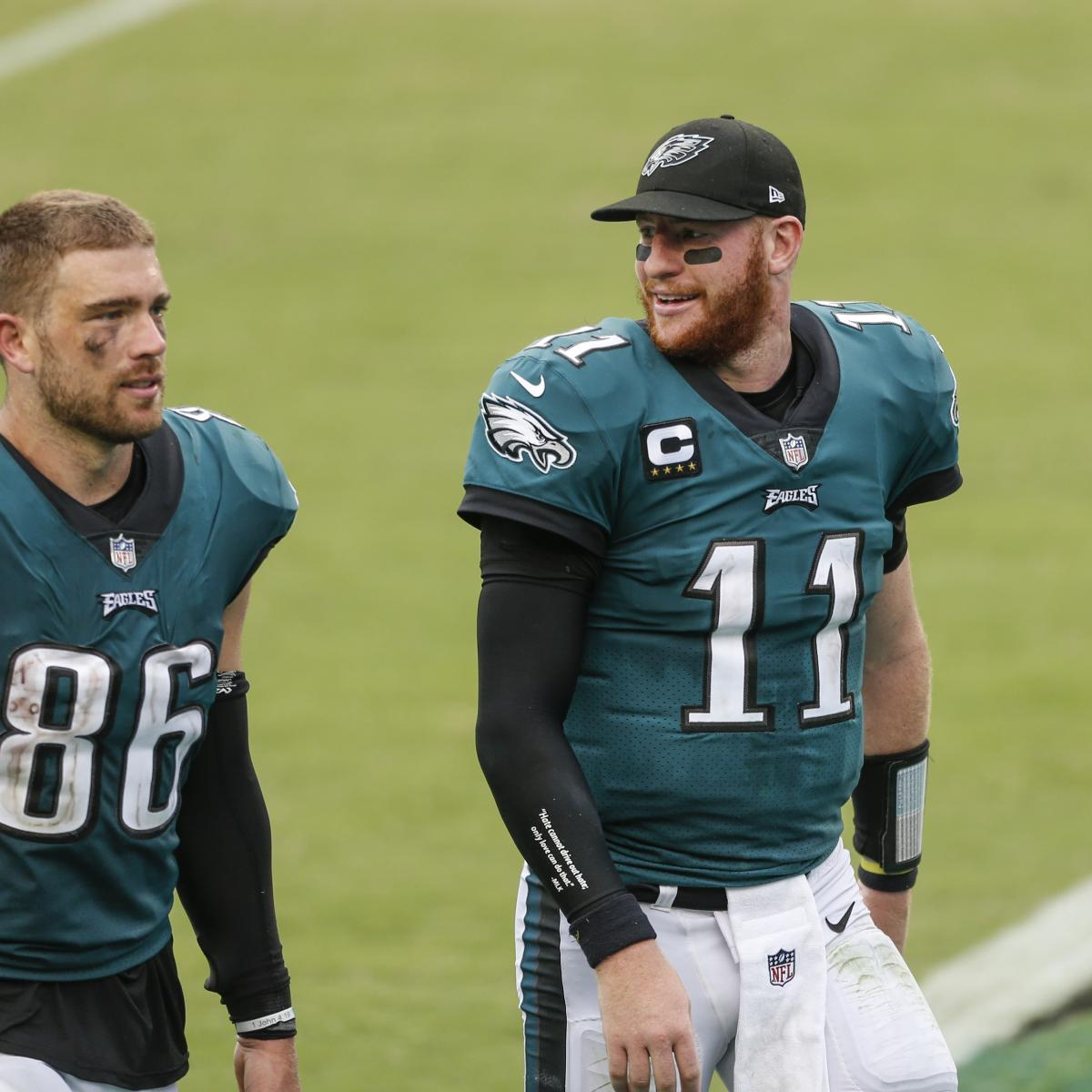 <p>Eagles Rumors: Zach Ertz Could Be Traded, Released amid Carson Wentz Buzz thumbnail