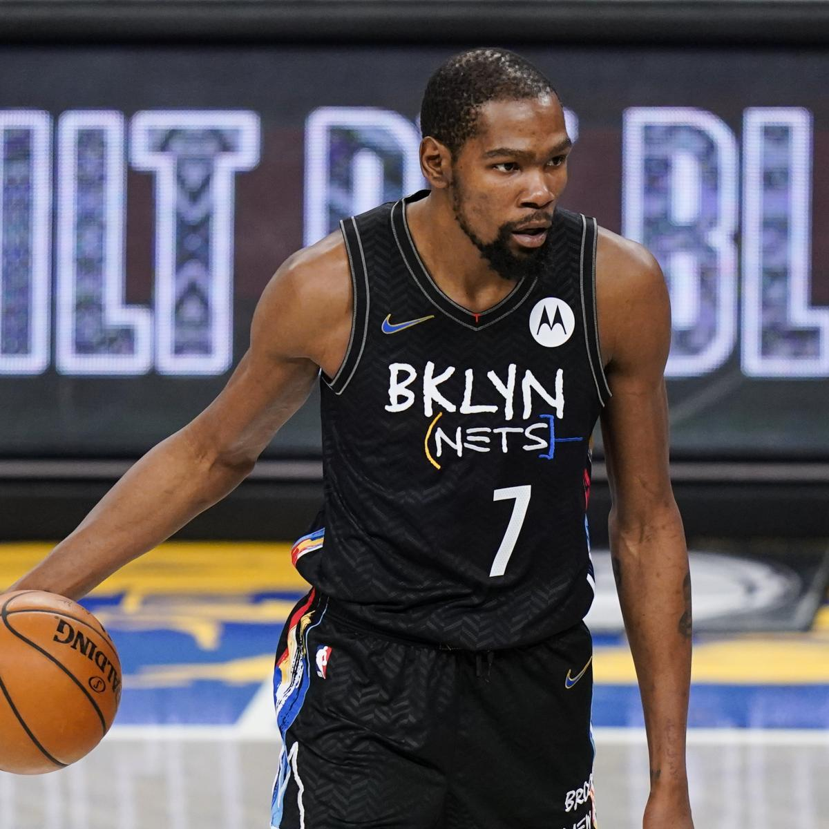 <p>Kevin Durant Ruled Out for Nets vs. Lakers Due to Hamstring Injury thumbnail