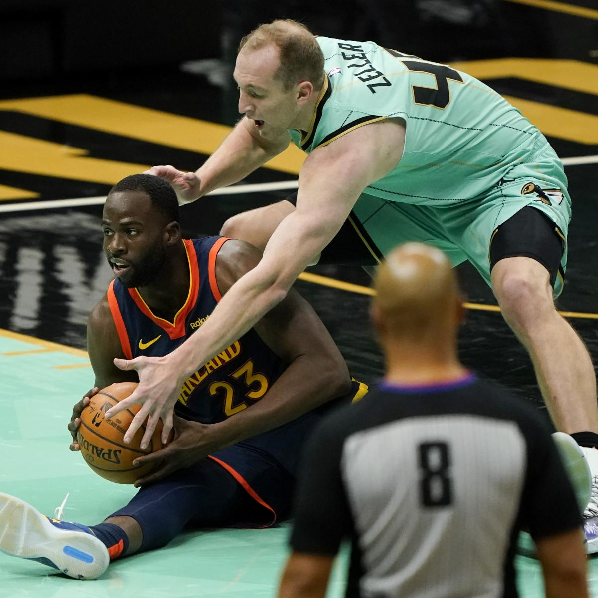<p>Warriors' Draymond Green Ejected vs. Hornets After Receiving Double Technical thumbnail