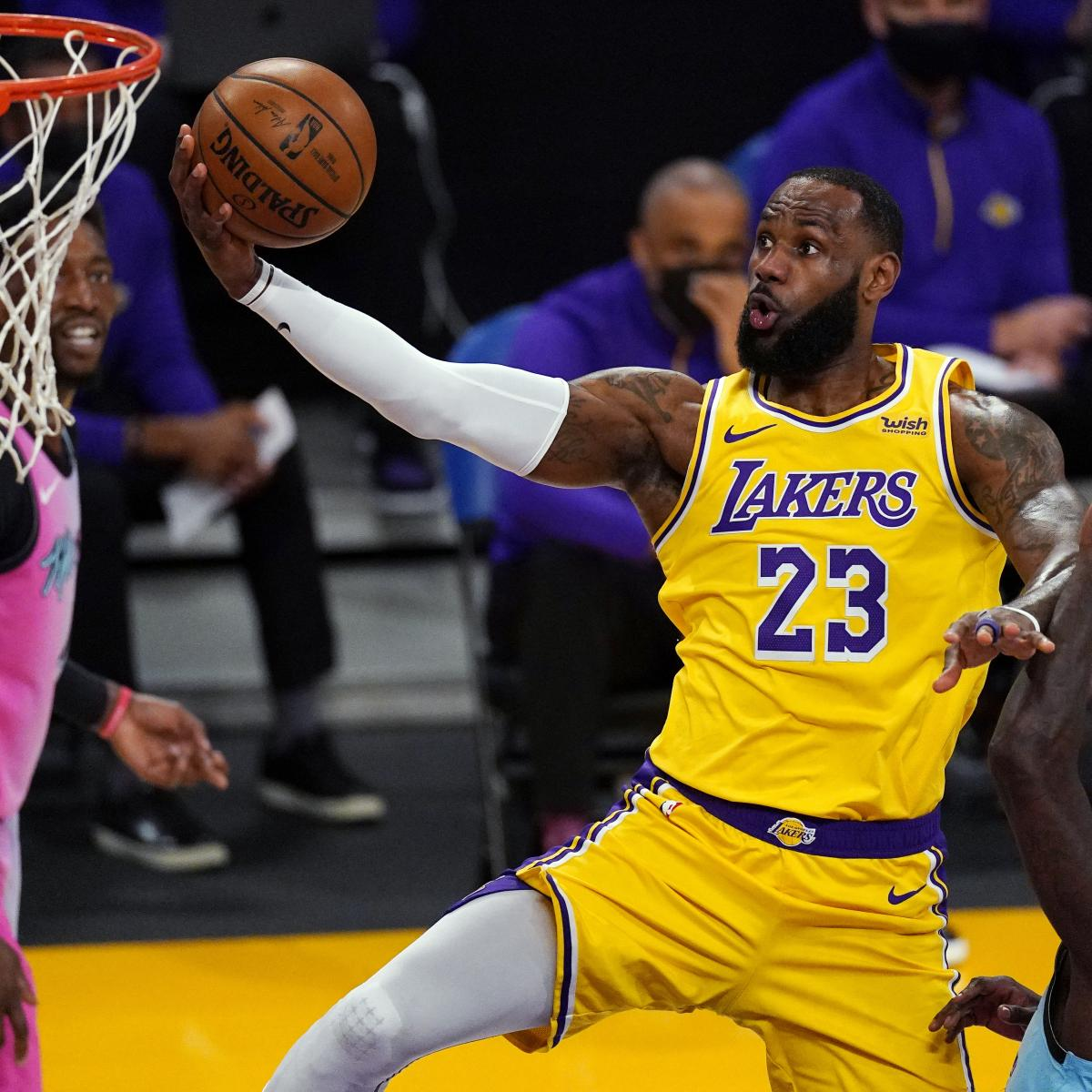 LeBron James on Lakers Loss to Heat: 'Shots Just Didn't Fall in the Fourth'