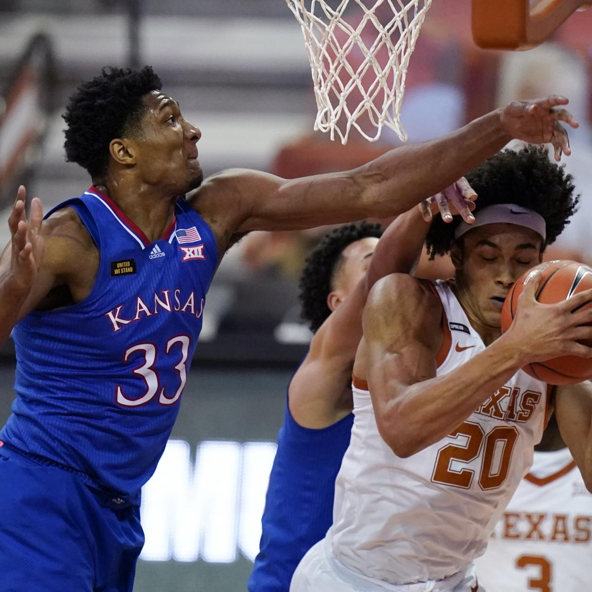 No. 14 Texas Uses 2nd Half Rally to Beat No. 17 Kansas in Overtime, 75-72 thumbnail