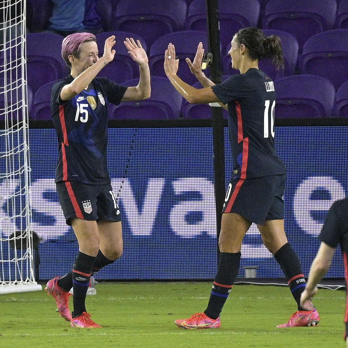 Megan Rapinoe, USA Capture 2021 SheBelieves Cup Title with Win vs. Argentina