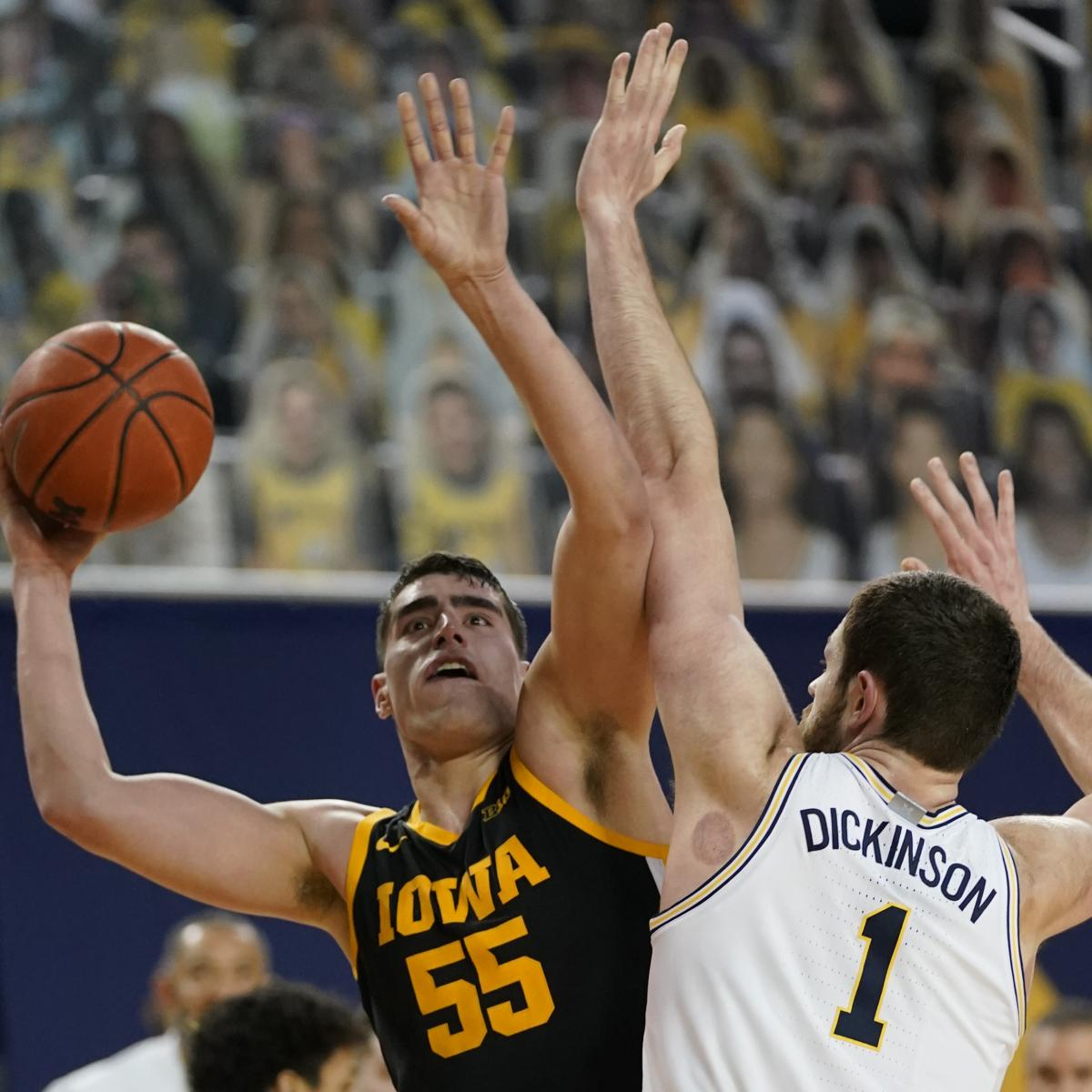 No. 3 Michigan, Hunter Dickinson Rout Luka Garza, No. 9 Iowa 79-57