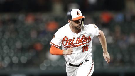 Orioles' player singles in 1st at-bat since cancer recovery