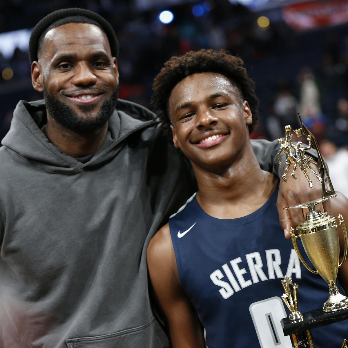 LeBron James Says Playing with Son Bronny in NBA 'Definitely One of My Goals'
