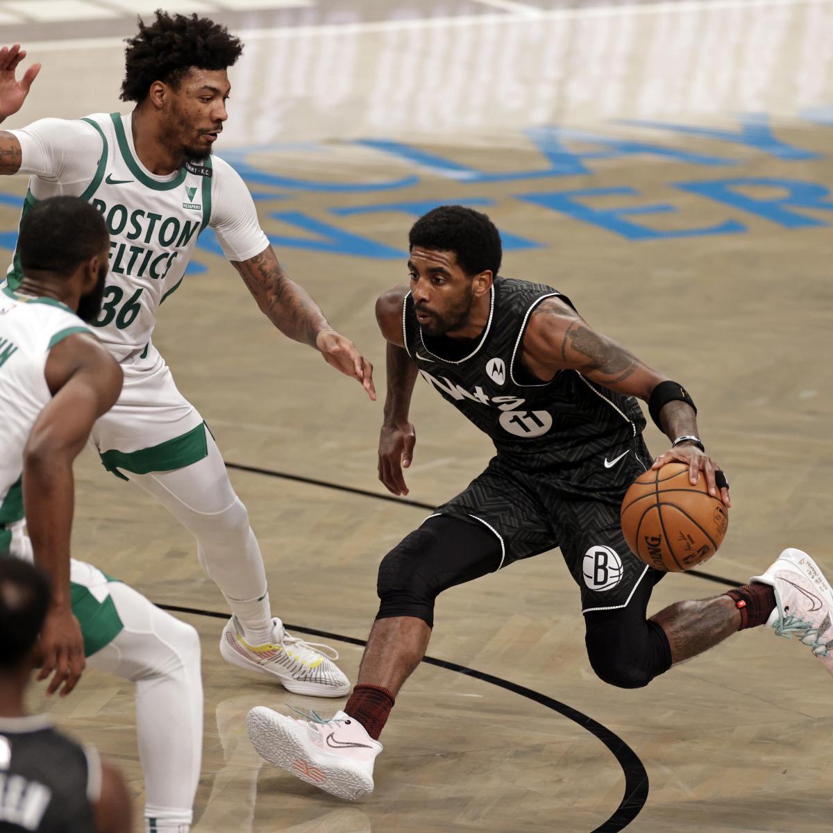 <p>Kyrie Irving Stars Using 40 Points as Nets Take Down Jayson Tatum, Celtics thumbnail