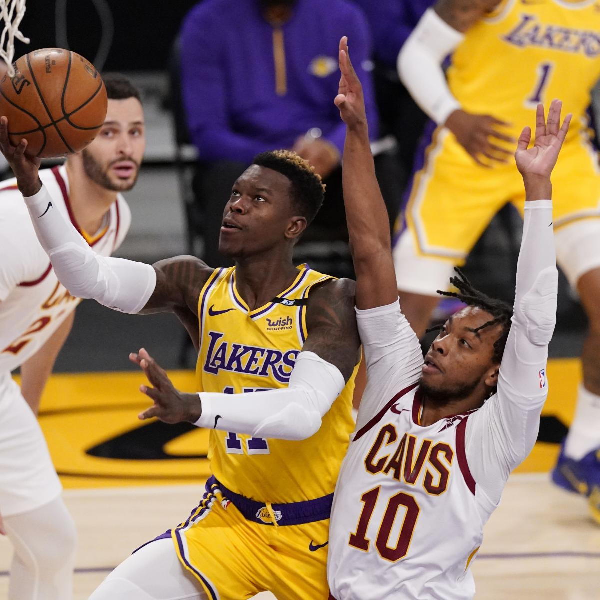 Dennis Schroder, Lakers Pull Away from Cavs to Snap 4-Game Losing Streak thumbnail