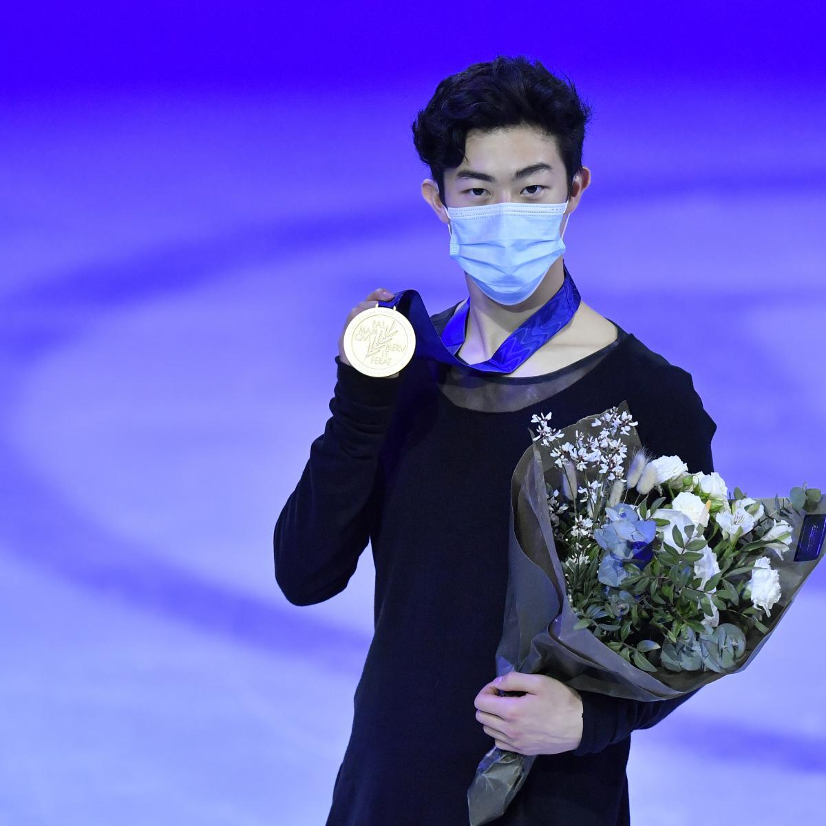 Nathan Chen Wins Men's Title at 2021 World Figure Skating Championships thumbnail