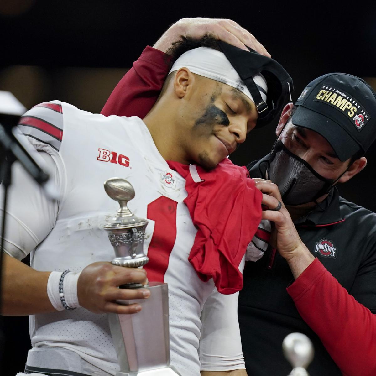 Ohio State's Ryan Day: Justin Fields Is a Great Player, Person Amid Draft Buzz