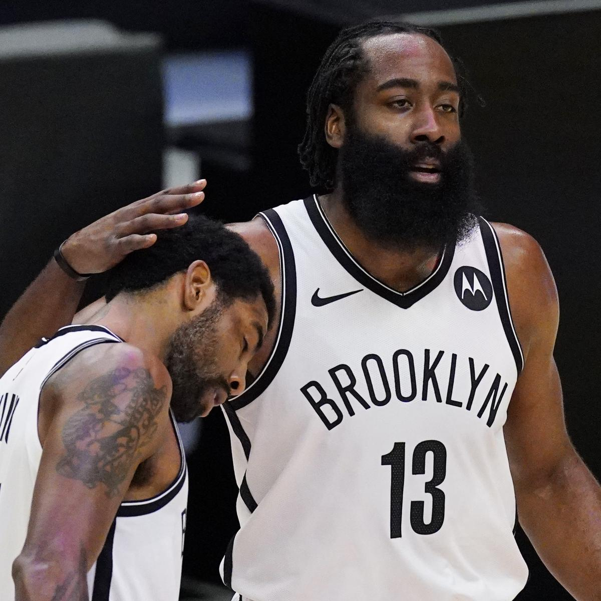 Kyrie Irving: We Want James Harden'As Healthy as Possible' After Injury Setback thumbnail
