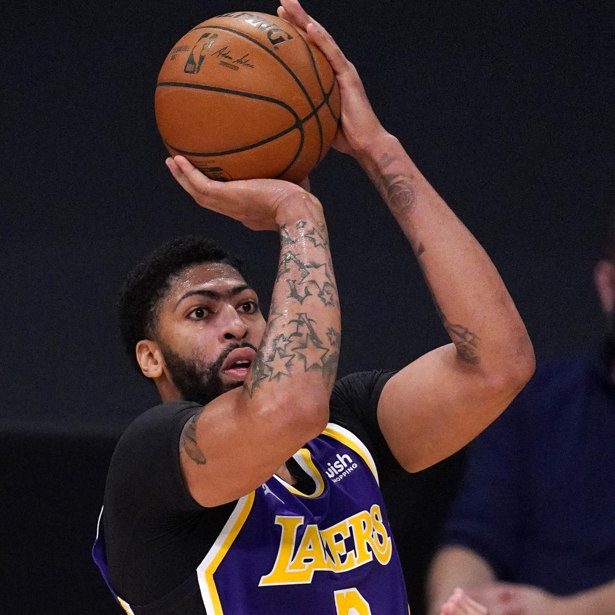 <p>Lakers' Anthony Davis Ruled out Clippers with Back Injury thumbnail
