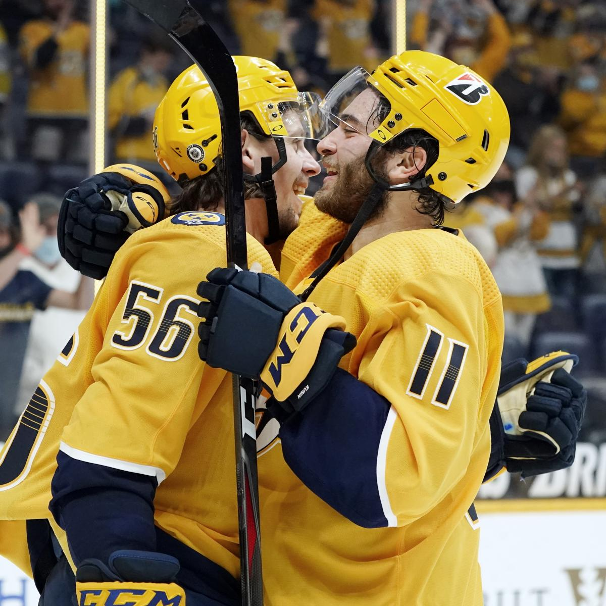 <p>Predators Clinch Playoff Spot; Latest 2021 NHL Playoff Picture thumbnail