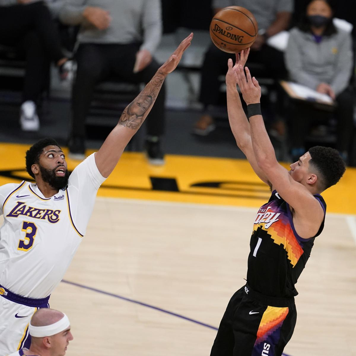 Anthony Davis Dominates with 42 as Lakers Defeat Devin Booker, Suns thumbnail