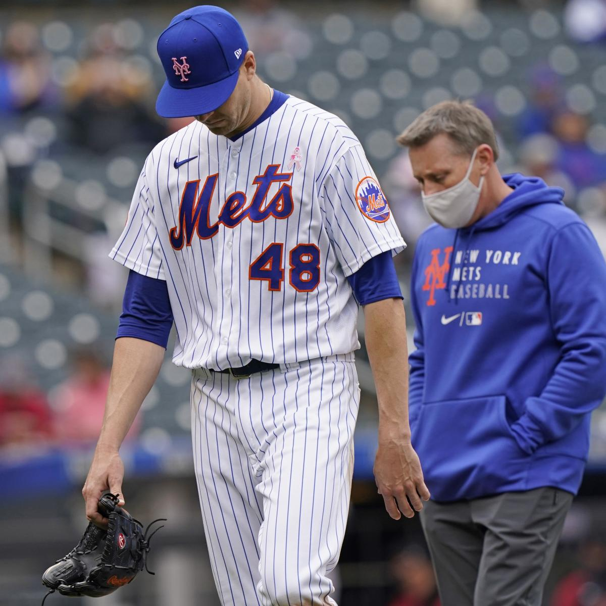 <p>Mets' Jacob DeGrom to Return from IL on Tuesday After Side, Back Injuries thumbnail