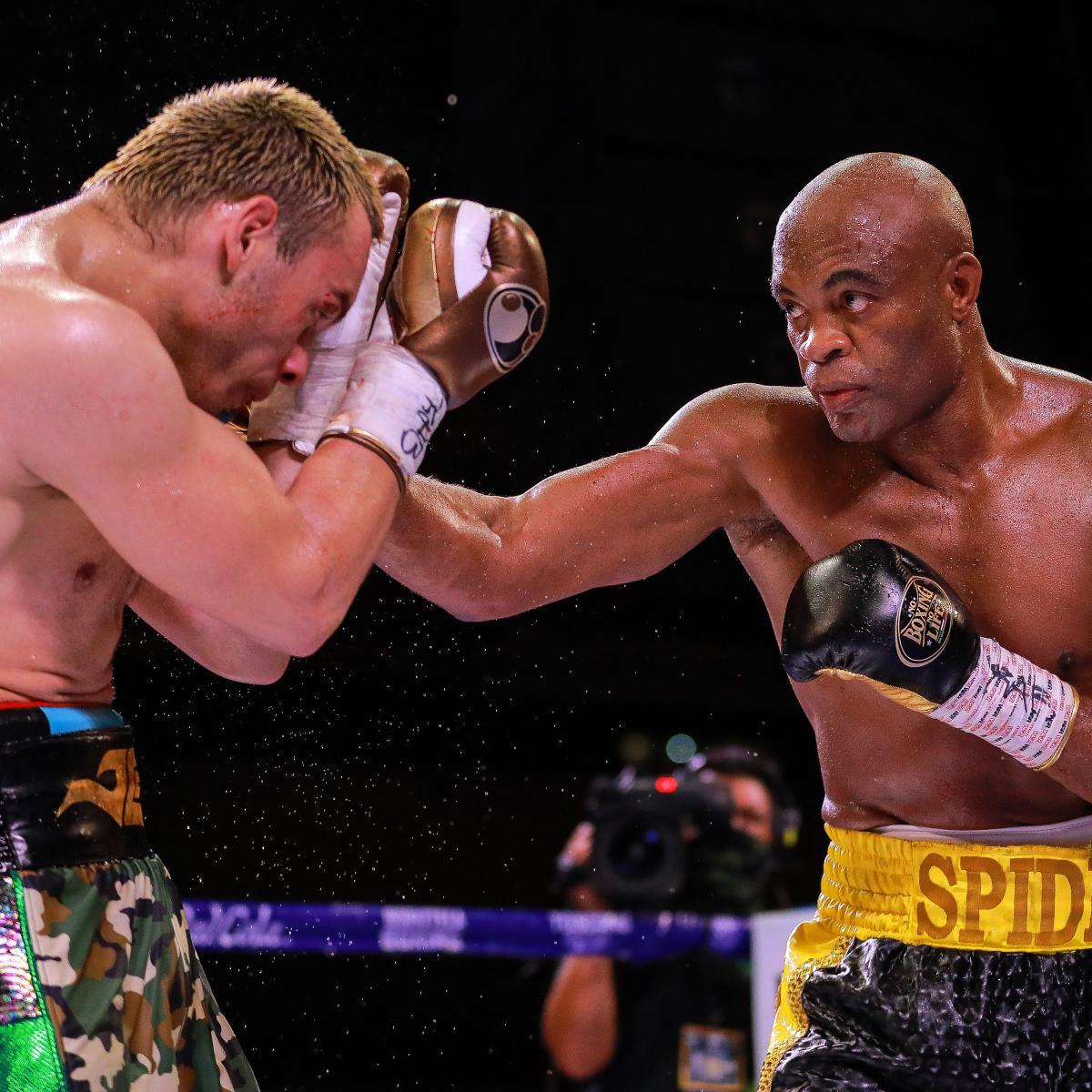 Anderson Silva Stuns Julio Cesar Chavez Jr. in 1st Boxing Match Since 2005
