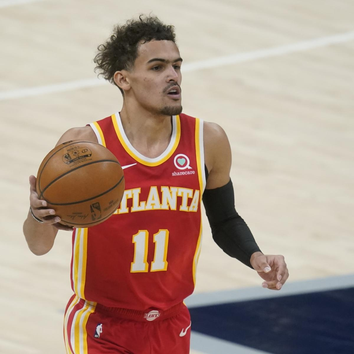 Report: Trae Young Out for Hawks vs. Bucks Game 4 Because of Foot Injury