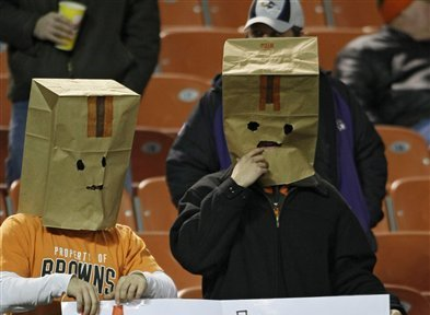 4ad443aff46 Bag-Headed Sports Fans Who Love Awful Teams