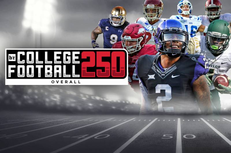 3036020a37f B R CFB 250  Top 250 Overall Players in College Football