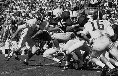 Lee Roy Jordan, here wearing his No. 54 in the 1963 Orange Bowl, will forever be considered a Crimson Tide legend.