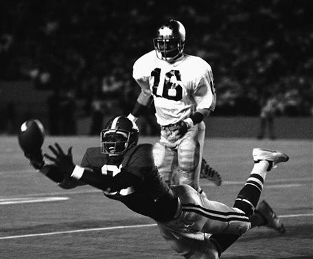 Long before he became the general manager of the Baltimore Ravens, Ozzie Newsome was setting receiving records at Alabama.