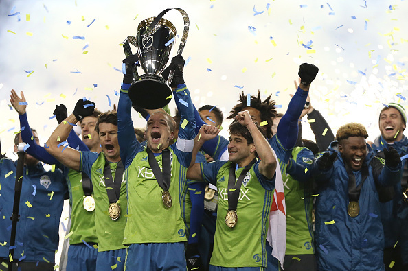 Sounders winning the 2016 MLS Cup