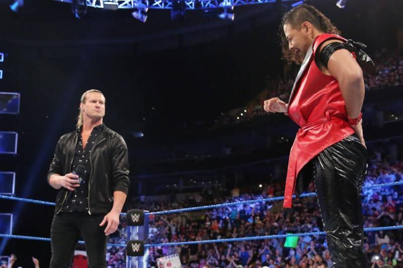 Dolph Ziggler seems threatened by Shinsuke Nakamura's large following.