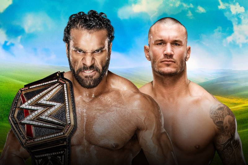 Image result for money in the bank 2017 WWE Championship Randy Orton vs. Jinder Mahal
