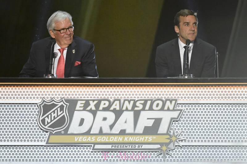 Las Vegas Golden Knights Owner Bill Foley Left And General Manager George Mcphee