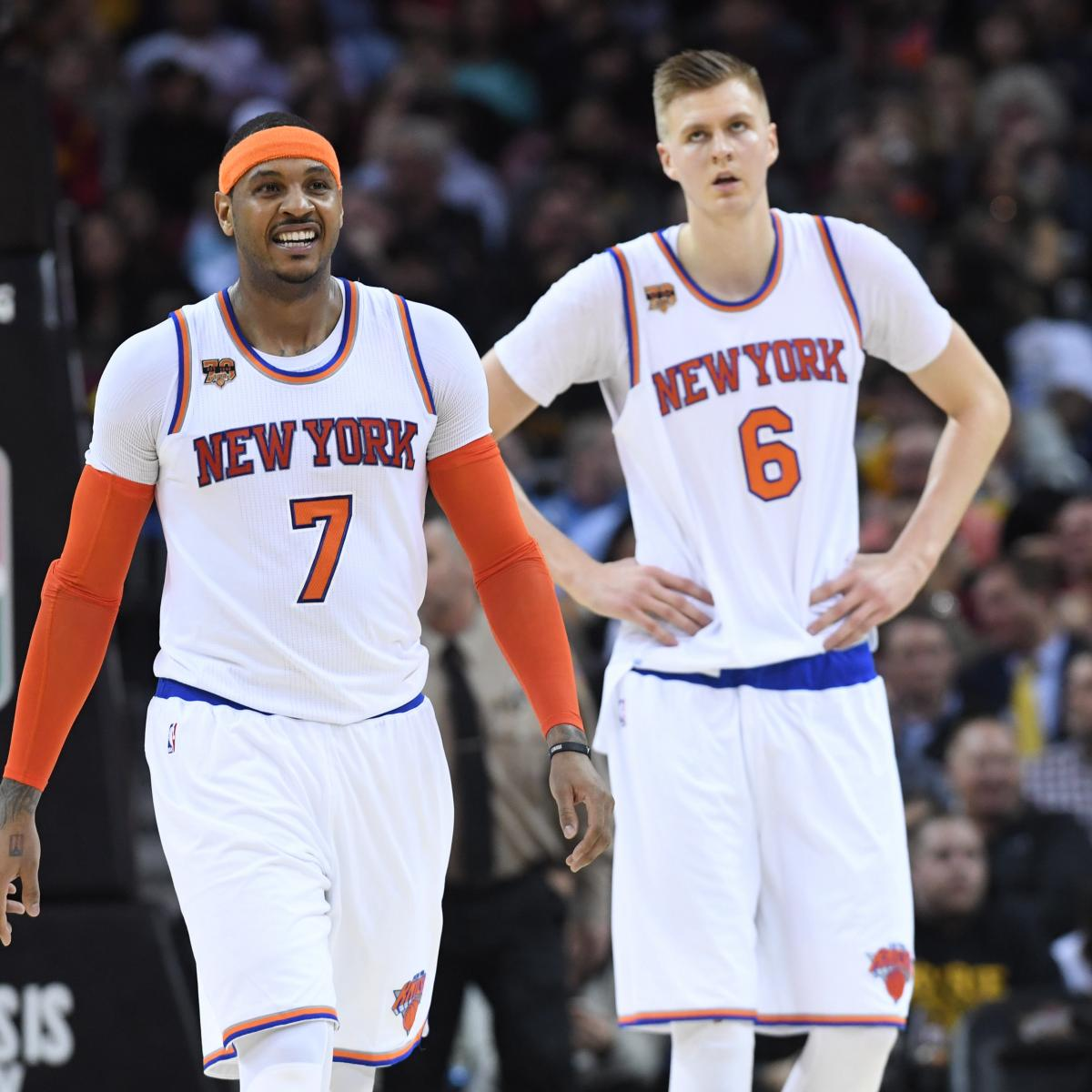 Projecting New York Knicks 2017 18 Depth Chart Bleacher Report Latest News Videos And Highlights