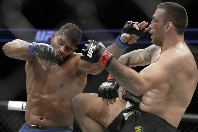 Fabricio Werdum, right, needs to rebound after a narrow loss to Alistair Overeem.