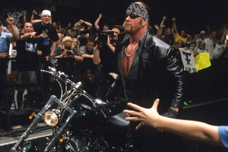 The Undertaker during his American Badass phase.