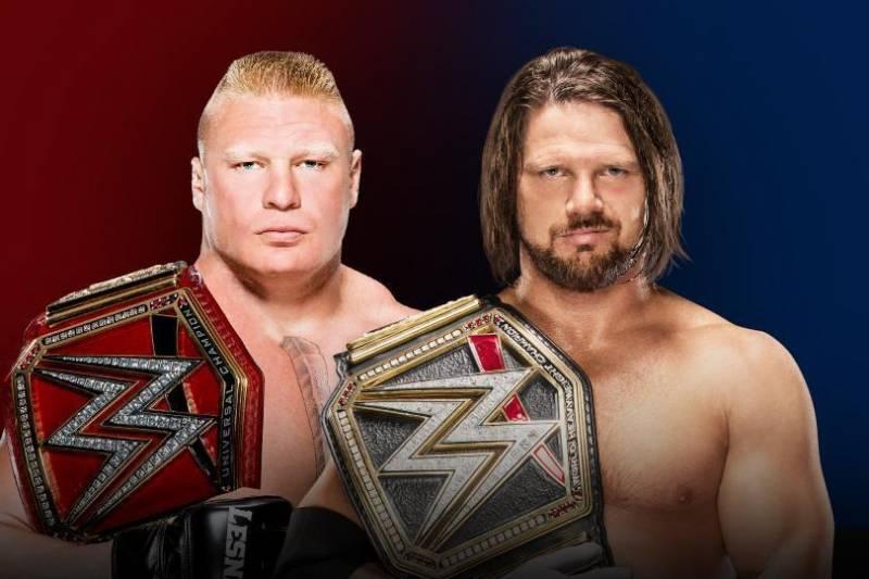 Brock Lesnar vs. AJ Styles