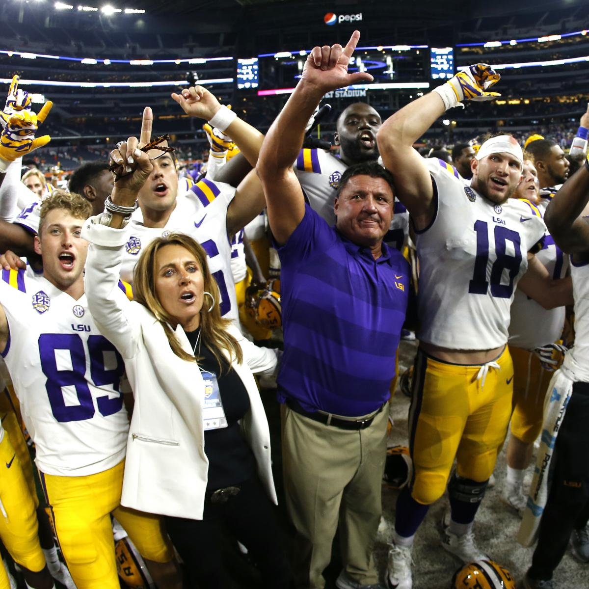 NCAA Football 2018 Rankings: LSU Soars, Florida State