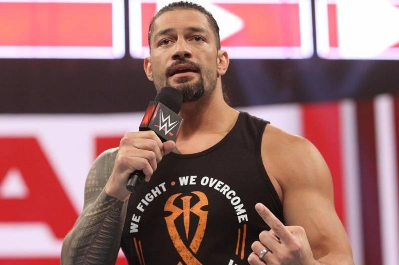 Roman Reigns on Monday's Raw.