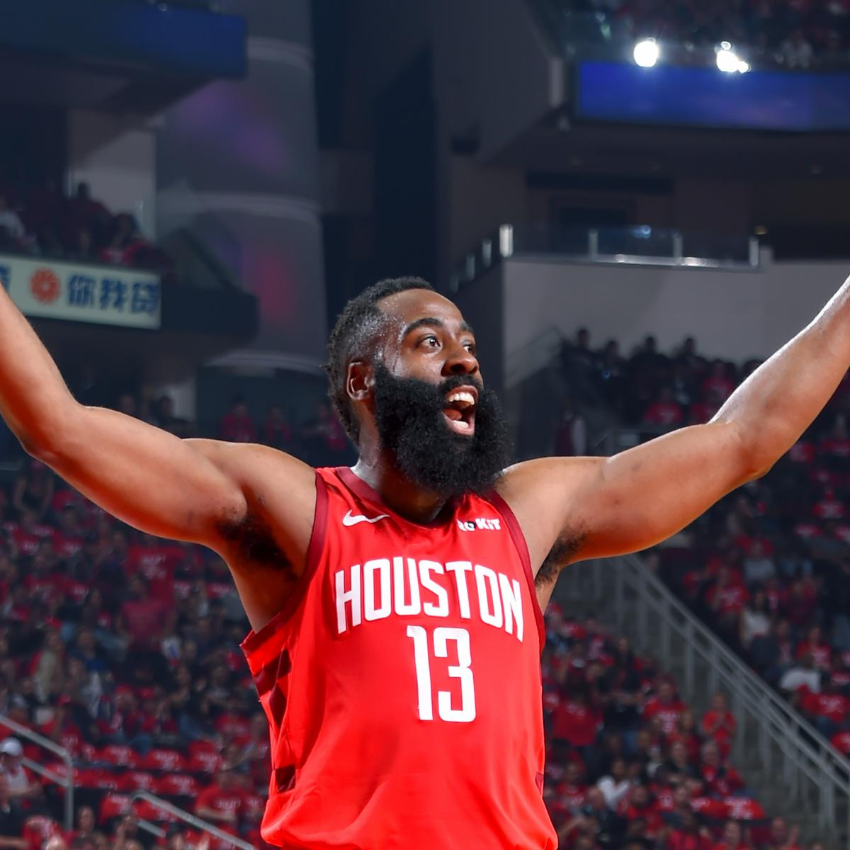 f6b6316112c NBA Power Rankings: James Harden, Houston Rockets Blasting Their Way to the  Top | Bleacher Report | Latest News, Videos and Highlights