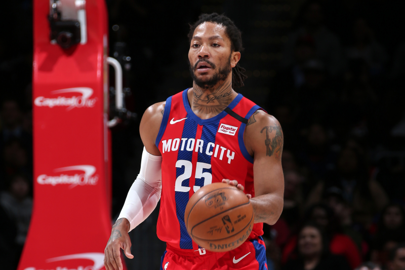 Trade Packages and Landing Spots for Pistons' Star Guard Derrick Rose
