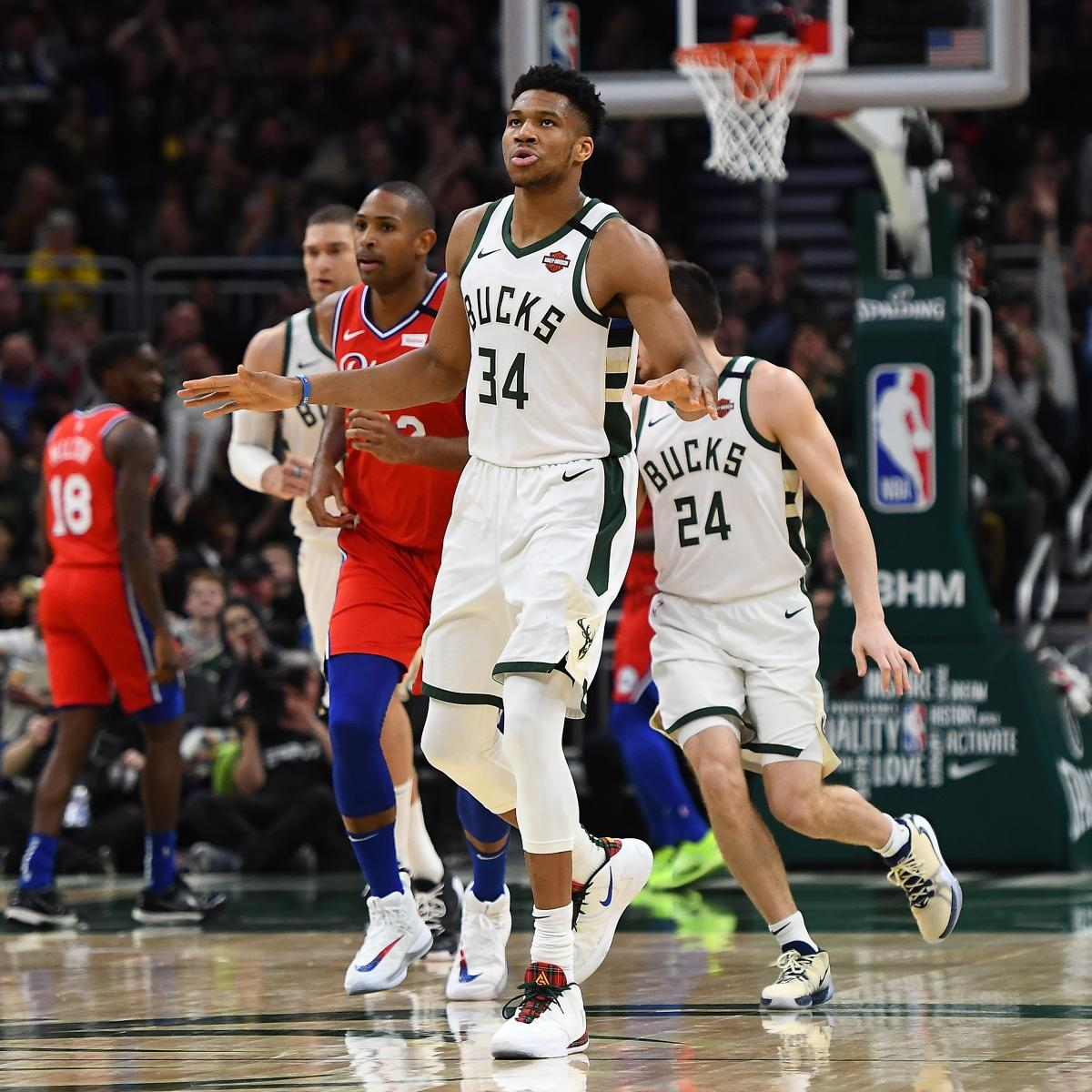 NBA Power Rankings: Can Anyone Catch Giannis Antetokounmpo and the Bucks?